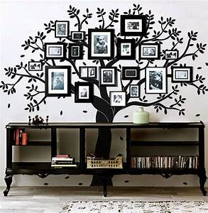 family tree wall decal photo frame tree by artoxo on etsy With awesome family tree wall decal with frames