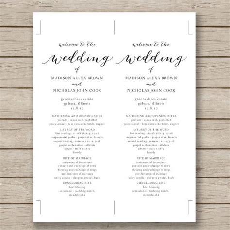 wedding program template   word  psd