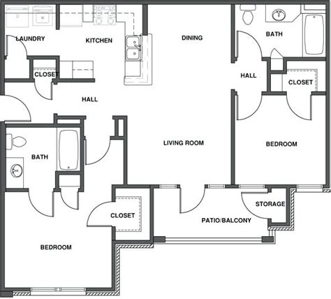 2 Bedroom Apartment Floor Plans Pdf Savaeorg