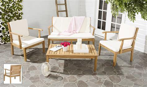safavieh fresno 4pc outdoor patio set