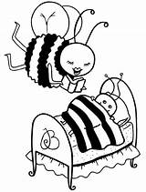 Coloring Bee Bees sketch template