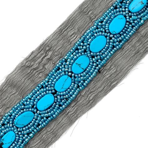 turquoise beaded trim   joyce trimming