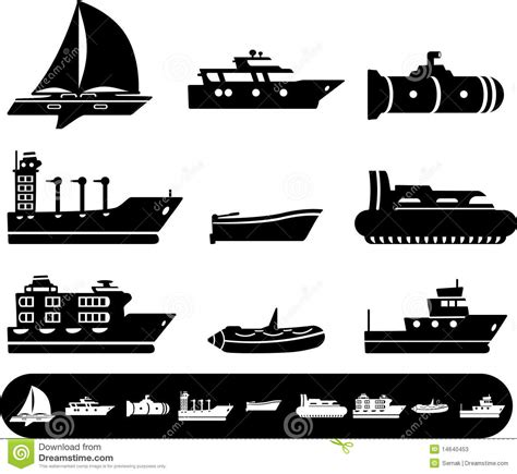 Boat Icon Tattoo by Boat And Ship Icons Stock Photos Image 14640453