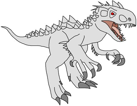 Indominus Kleurplaat by T Rex Clipart Dinosaur Colouring For Free And Use