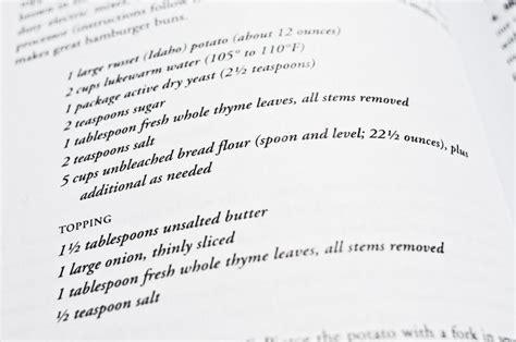 recette de cuisine en anglais ingrédients américains et équivalences transatlantiques