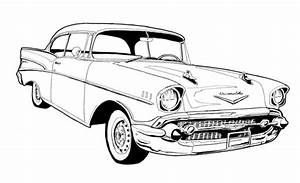 57 chevy belair free coloring pages With 1955 chevy bel air