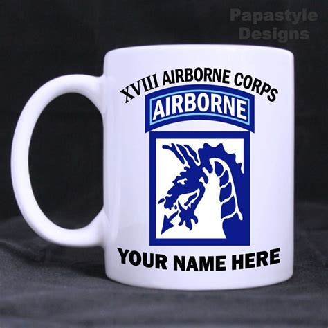Fox news reported that over the last three years, the squad tallied up a $56,000 bill for the metal mugs. US Army XVIII Airborne Corps Personalized 11oz Coffee Mugs ...