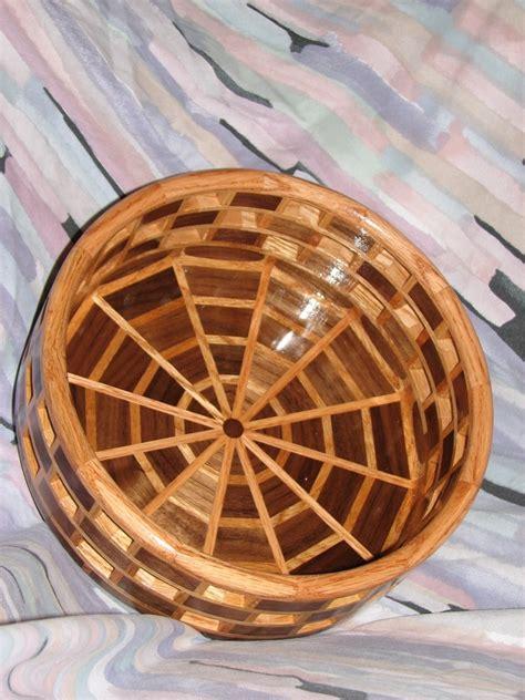 open segmented walnut oak bowl finewoodworking