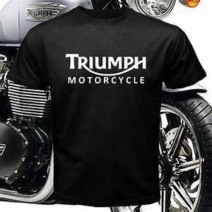 Triumph Motorcycle Legend Logo Men's Black T-shirt Size M ...