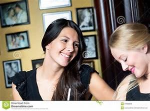 Two Beautiful Women Enjoying A Night Out Royalty Free ...
