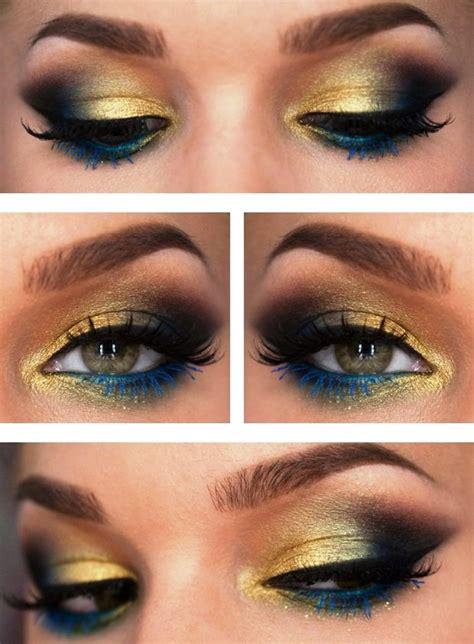 peacock inspired eye shadows step  step tutorial amazingmakeupscom