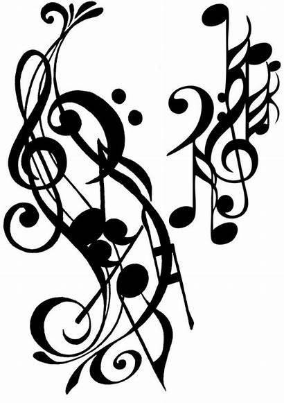 Coloring Notes Musical Tattoo Adult Pages Musique