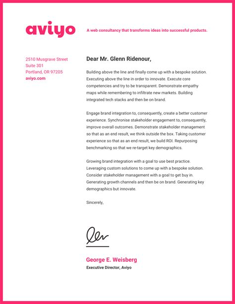 professional business letterhead templates  design