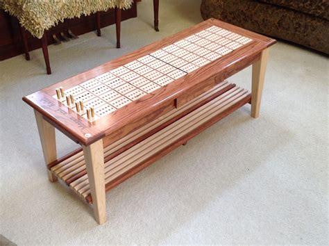 cribbage board coffee table stuff   diy