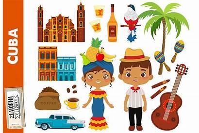 Cuba Clip Clipart Travel Havana Designs Cart