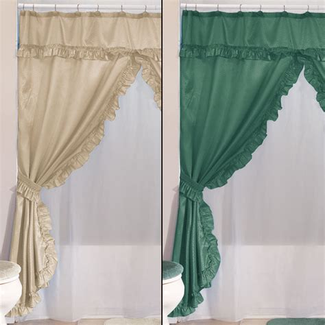 swag shower curtain swag shower curtains with valance home walter