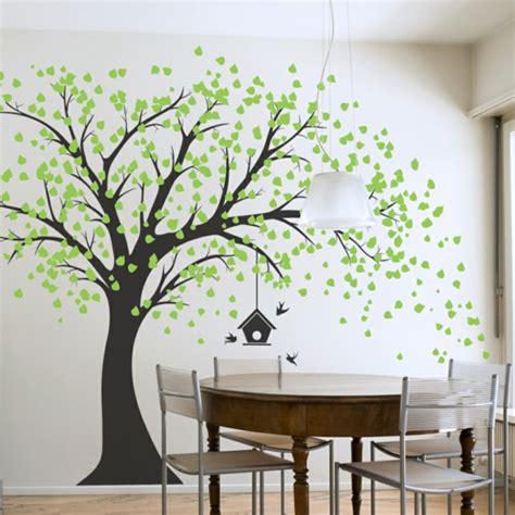 chambre a coucher avec papier peint magnifiques stickers décoratifs géants