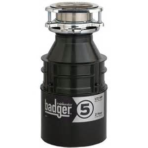 kitchen sink accessories badger 5 garbage disposer with