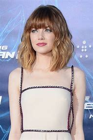 Bob with Bangs Emma Stone
