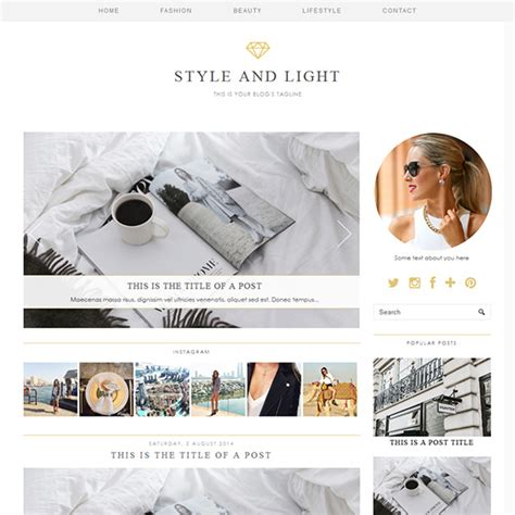 style light  luxury wordpress theme  pipdig