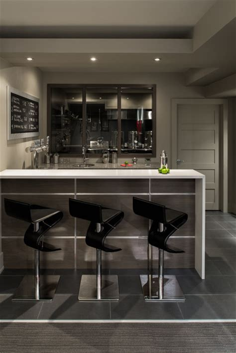 Basement Bar and Brewery   Contemporary   Home Bar