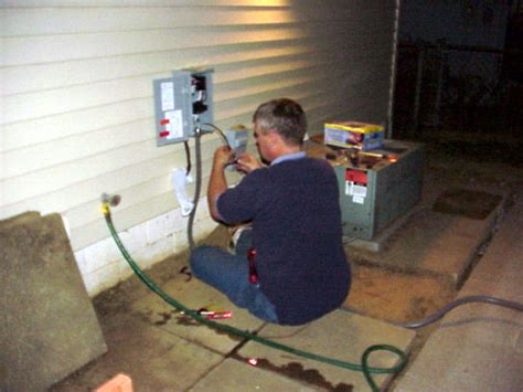Tub Electrical Hook Up by Below Is Me Hooking Up The Electric As Midnight Approached