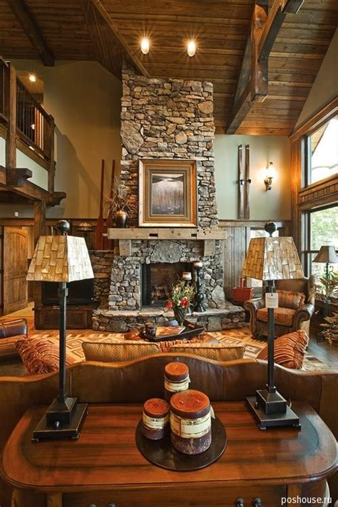 Decorating A Living Room With A Fire Place  Interior Design