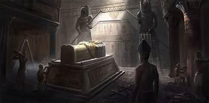 Egyptian Tomb Ancient Tombs Interior Artstation Fantasy