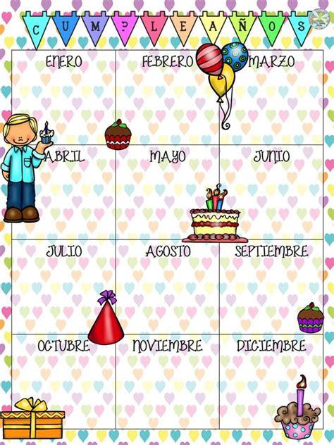 fabulosos lindos disenos de calendarios los cumpleanos de