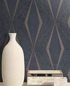 Tapete Blau Muster : tapete riverdale anthrazit ~ Orissabook.com Haus und Dekorationen