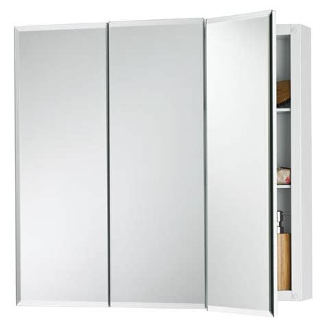 broan medicine cabinet replacement door broan horizon frameless tri view medicine cabinet