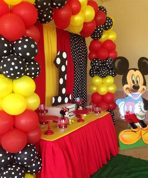 Mickey Mouse Decorations by Mickey Mouse Birthday Ideas Cumple Simon Mickey