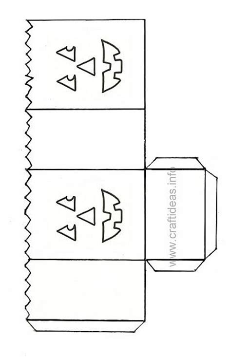 Halloween Craft Pattern  Jack O' Lantern Paper Lantern