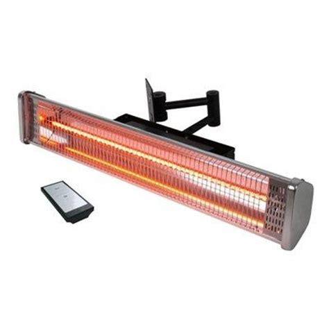 electric halogen patio heater la hacienda hwm1800 wall mounted halogen patio heater