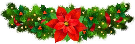 christmas decorative  poinsettia png clip art image