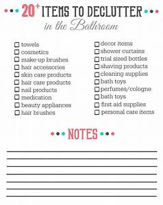 20 things to declutter from the bathroom clean and With list of accessories in kitchen and bathrooms