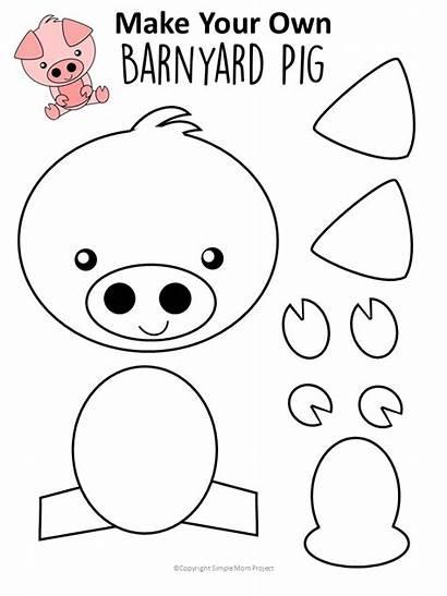 Pig Craft Activity Template Preschool Easy Printable