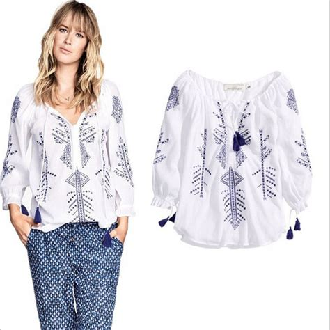 summer blouse white embroidered blouse picture more detailed picture