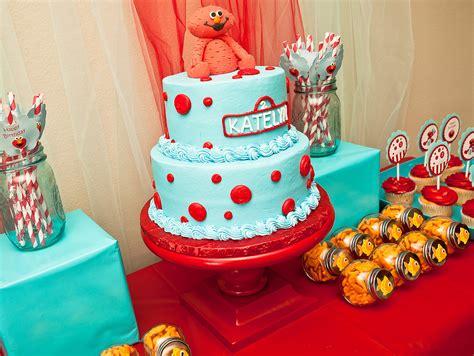 karas party ideas red  turquoise elmo party sesame