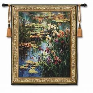 Summer lily large woven wall tapestry pure country weavers