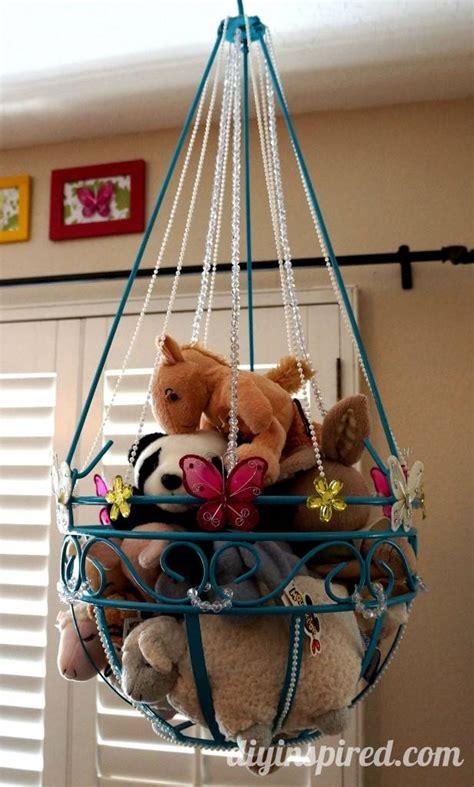 creative diy ways  organize  store stuffed animal