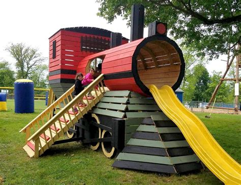town train play set plan   craft kids playhouse plans play houses backyard playhouse