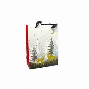 Pochette Cadeau Papier : pochette cadeau papier cartonn glac motif sapin de no l ~ Teatrodelosmanantiales.com Idées de Décoration