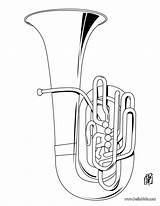 Coloring Tuba Musical Sheets Instruments Instrument Pages Music Drawing Colouring Brass Books Activities Collage Hellokids Printable Names Artist Musique Dessin sketch template