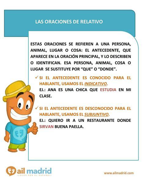 oraciones de relativo  images learning spanish