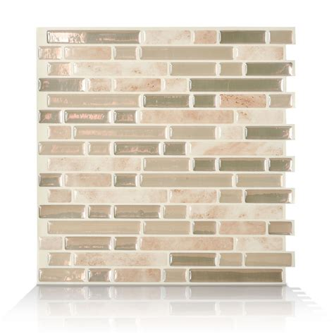 smart tiles bellagio sabbia smart tiles 6 pieces 10 06 inch x 10 inch peel and