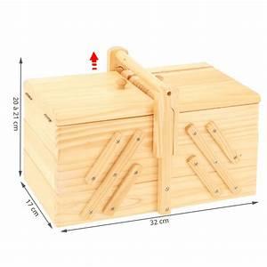 Boîte à couture en bois Travailleuse Rangement