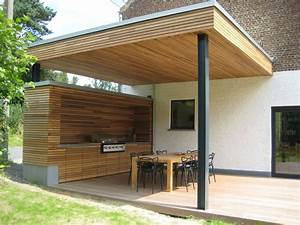 terrasse couverte a vieux genappe herve vanden haute With terrasse couverte en bois