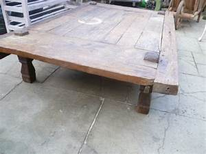 large antique rustic low coffee table antiques atlas With low rustic coffee table