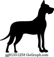 Almost files can be used for commercial. Great Dane Clip Art - Royalty Free - GoGraph
